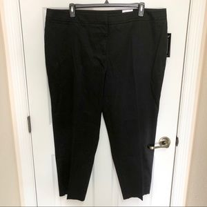 NEW! Avenue Black Sateen Ankle Pants Size 20W